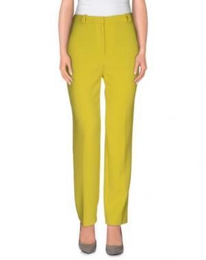 Повседневные брюки JO NO FUI. Цвет: кислотно-зеленый