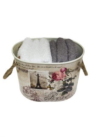 Комплект полотенец, 6 шт Daily by T. Цвет: белый, светло-серый