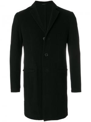 Однобортное пальто Daniele Alessandrini. Цвет: чёрный