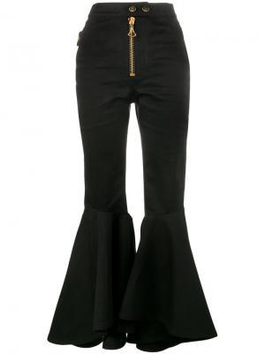Расклешенные брюки с завышенной посадкой Ellery. Цвет: чёрный