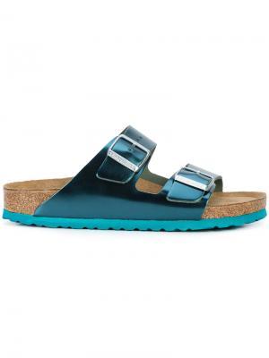 Лакированные сандалии с пряжками Birkenstock. Цвет: синий