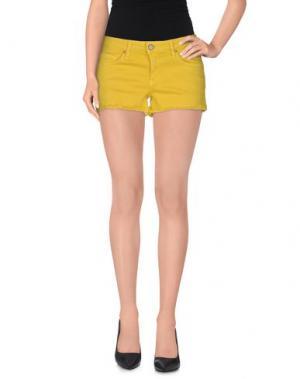 Джинсовые шорты BLAUER. Цвет: желтый