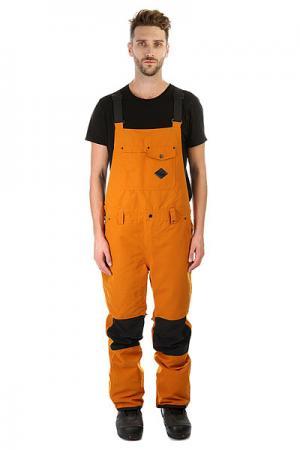 Комбинезон сноубордический  Found Bib Pumpkin Spice Quiksilver. Цвет: коричневый