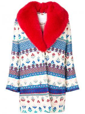 Пальто с узором Giada Benincasa. Цвет: многоцветный
