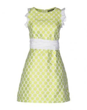 Короткое платье LA CAMICIA BIANCA. Цвет: кислотно-зеленый