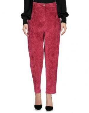 Повседневные брюки MICHELA MII. Цвет: красно-коричневый