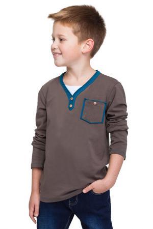 Рубашка VILATTE. Цвет: коричневый