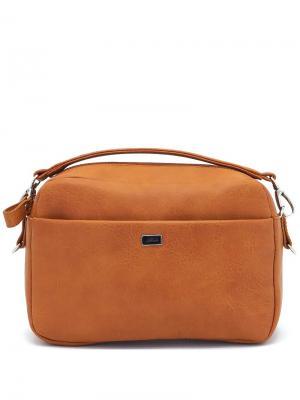 Сумка Solo true bags. Цвет: коричневый, рыжий