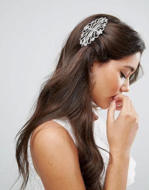 ASOS Расческа для волос BRIDAL. Цвет: серебряный