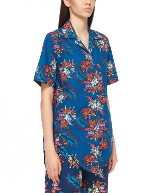 Рубашка с принтом House of Holland. Цвет: синий, красный
