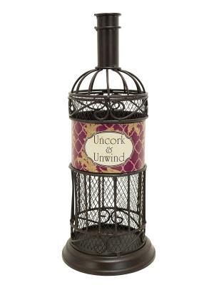 Декоративная емкость для винных пробок/мелочей Uncork & Unwind BOSTON. Цвет: коричневый