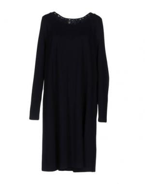 Платье до колена ROBERTA SCARPA. Цвет: темно-синий