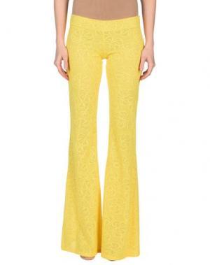 Повседневные брюки FISICO. Цвет: желтый