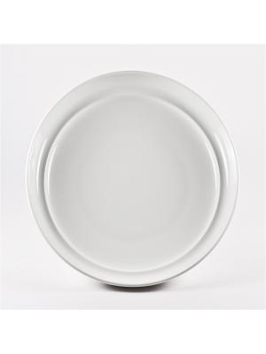 Тарелка под пасту 25,5 см Гонг Royal Porcelain. Цвет: белый
