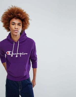 Champion Фиолетовый худи с логотипом. Цвет: фиолетовый