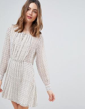 Deby Debo Свободное платье с принтом Jane. Цвет: белый