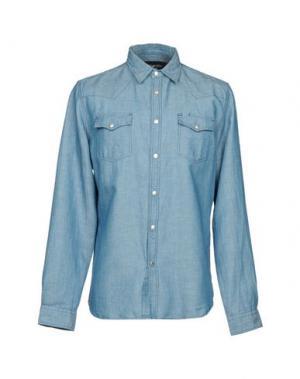 Джинсовая рубашка HYDROGEN. Цвет: синий