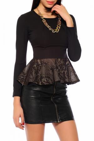 Блуза Tugce Ece. Цвет: black