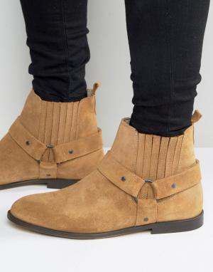 KG Kurt Geiger Замшевые байкерские ботинки Jackson. Цвет: рыжий