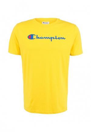 Футболка Champion. Цвет: желтый