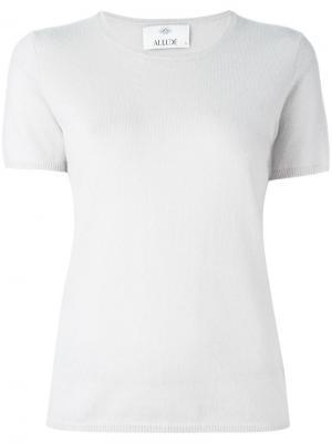 Кашемировая блузка с короткими рукавами Allude. Цвет: серый