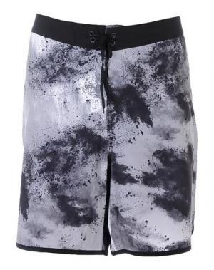 Пляжные брюки и шорты HURLEY. Цвет: стальной серый