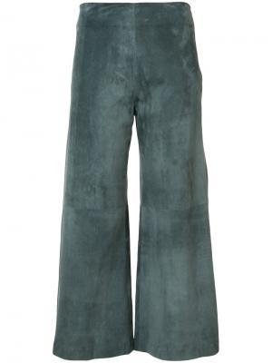 Укороченные брюки Adam Lippes. Цвет: серый