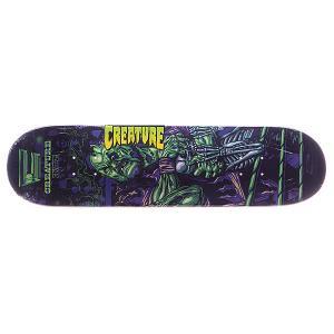 Дека для скейтборда  S5 mania Hitz 31.9 x 8.2 (20.8 см) Creature. Цвет: фиолетовый,зеленый