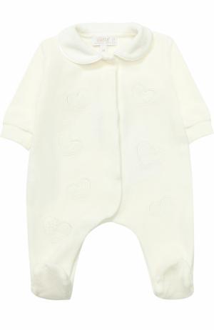 Хлопковая пижама с наживками Aletta. Цвет: кремовый