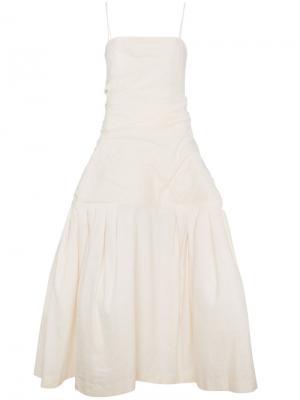 Платье с объемной юбкой Jacquemus. Цвет: телесный