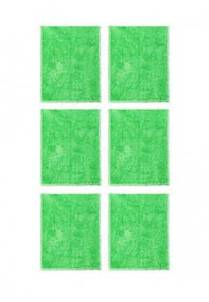 Комплект салфеток 6 шт. La Pastel. Цвет: зеленый