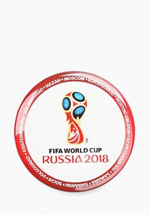 Значок 2018 FIFA World Cup Russia™. Цвет: белый