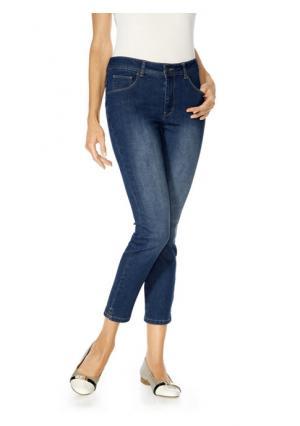 Моделирующие джинсы 7/8 Ashley Brooke. Цвет: белый, синий деним, темный деним