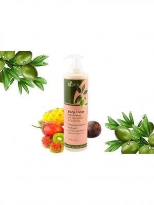 Увлажняющий лосьон для тела с оливковым маслом и экзотическими фруктами Rizes Crete. Цвет: белый