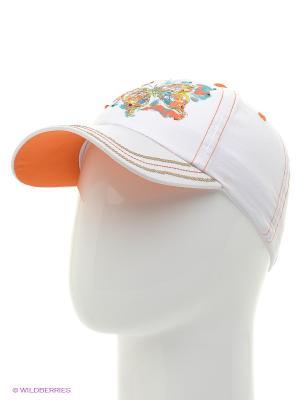 Бейсболка Чудо-Кроха. Цвет: белый, оранжевый