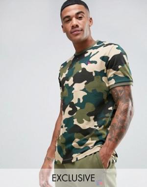 Russell Athletic Камуфляжная футболка. Цвет: розовый