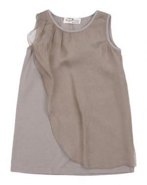 Платье LE PETIT COCO. Цвет: серый