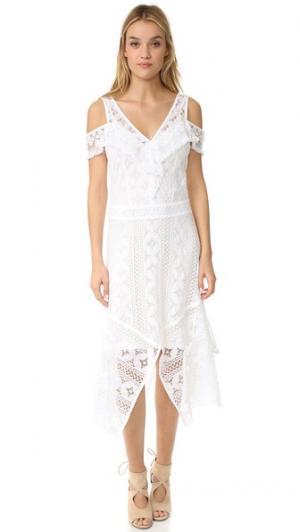 Кружевное платье Ranaja Rodebjer. Цвет: белый