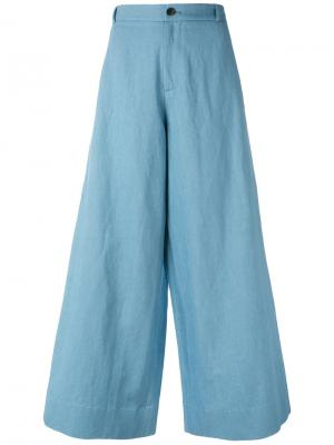 Широкие брюки New Berlino Société Anonyme. Цвет: синий