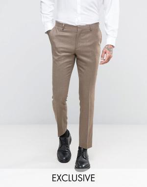 Number Eight Savile Row Зауженные брюки. Цвет: бежевый
