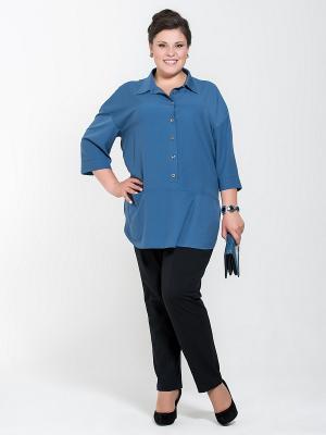 Блузка Silver-String. Цвет: темно-синий