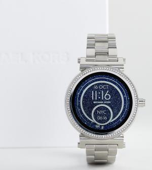 Michael Kors Серебристые смарт-часы Access MKT5020 Sofie. Цвет: серебряный