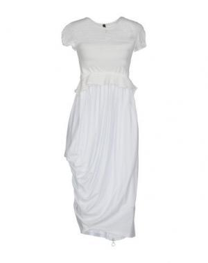 Платье до колена HIGH. Цвет: белый