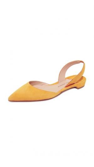 Замшевая обувь на плоской подошве Rhea Paul Andrew. Цвет: желтый