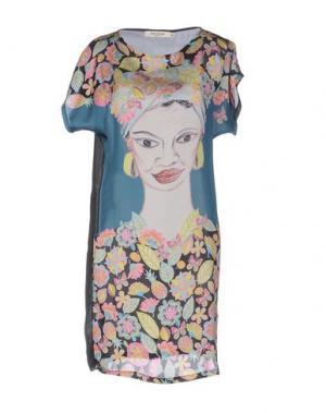 Короткое платье NICE THINGS BY PALOMA S.. Цвет: цвет морской волны