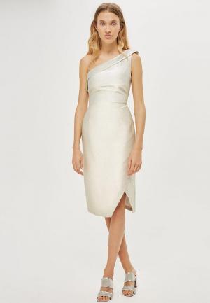 Платье Topshop. Цвет: серебряный