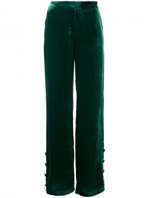 Бархатные брюки N Duo. Цвет: зелёный
