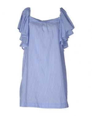 Короткое платье SHIRTAPORTER. Цвет: лазурный