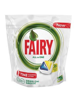 Капсулы для посудомоечной машины Original All In One Лимон (36 штук) Fairy. Цвет: белый