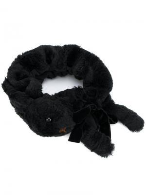 Повязка на голову в виде кролика Ca4la. Цвет: чёрный